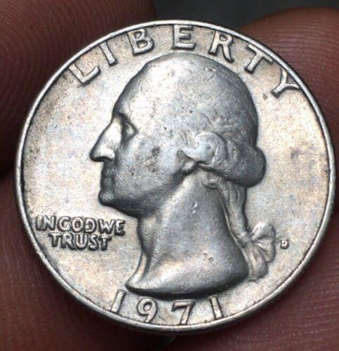 error #errorcoins 1971 D Washington Mint Quarter Error