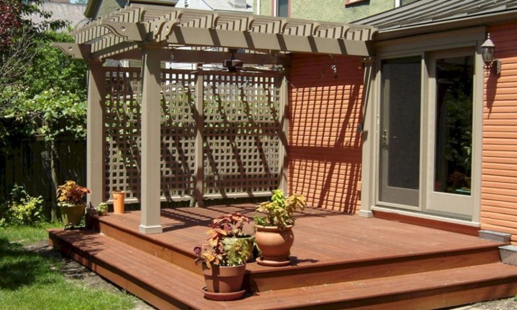 Top 25 Small Wooden Deck Remodel Ideas With Photos   Patio ...