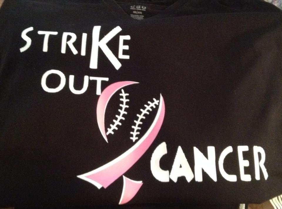 e86f0ffc6777 baseball strike out cancer ribbon breast cancer