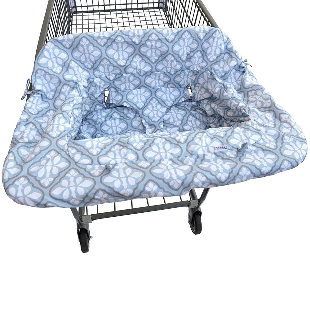 Shopping Cart Cover Blue Iris Shopping cart cover