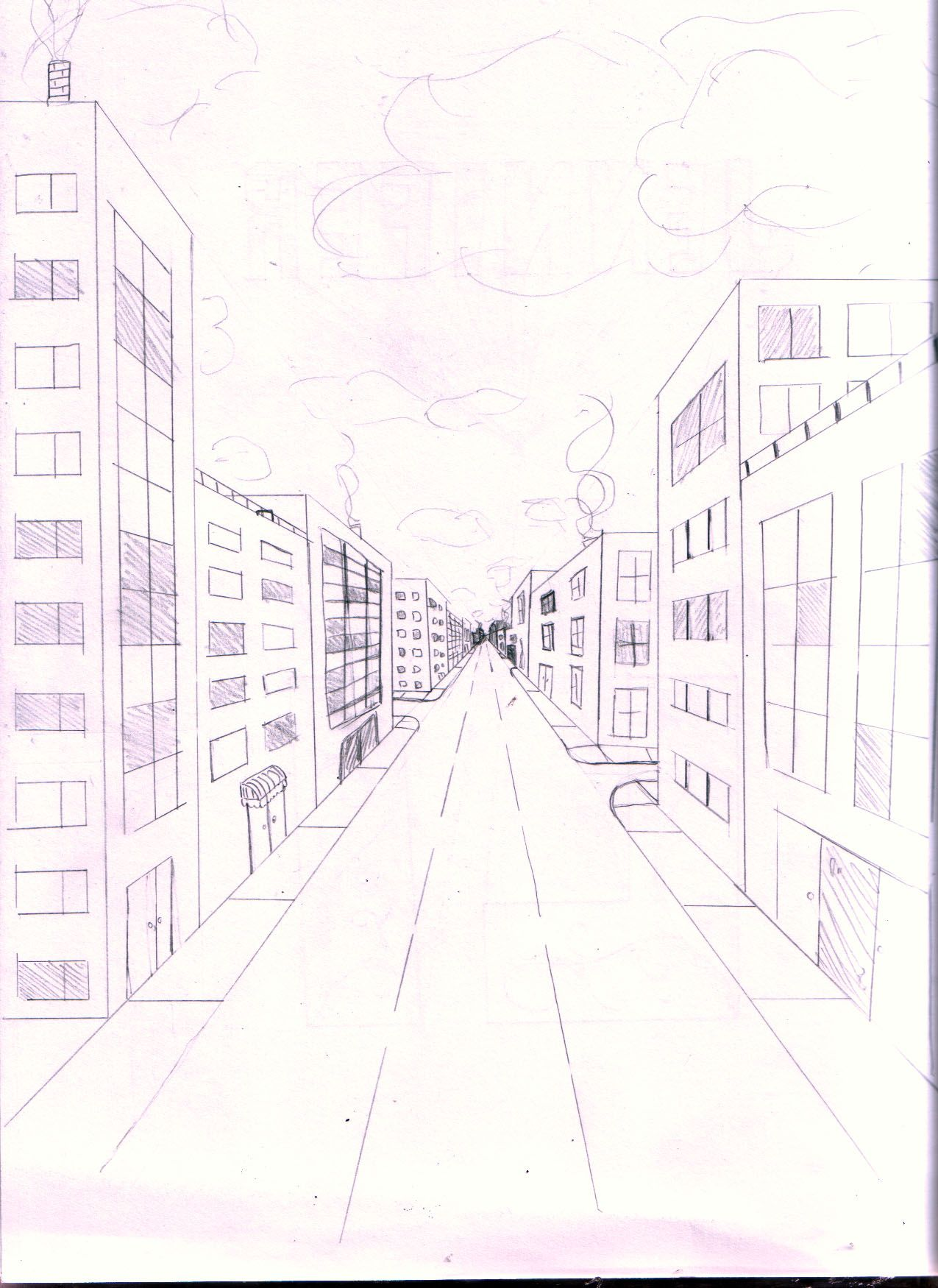 Day 9 One Point Perspective
