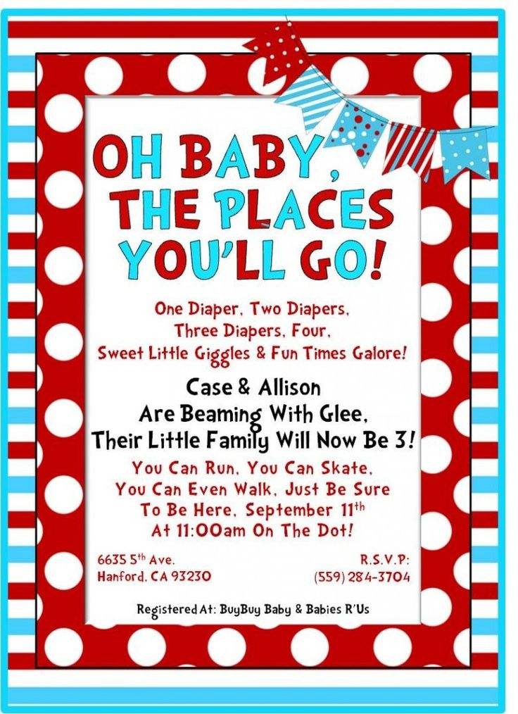 dr seuss baby shower invitations | Dr. Seuss Inspired Baby Shower ...