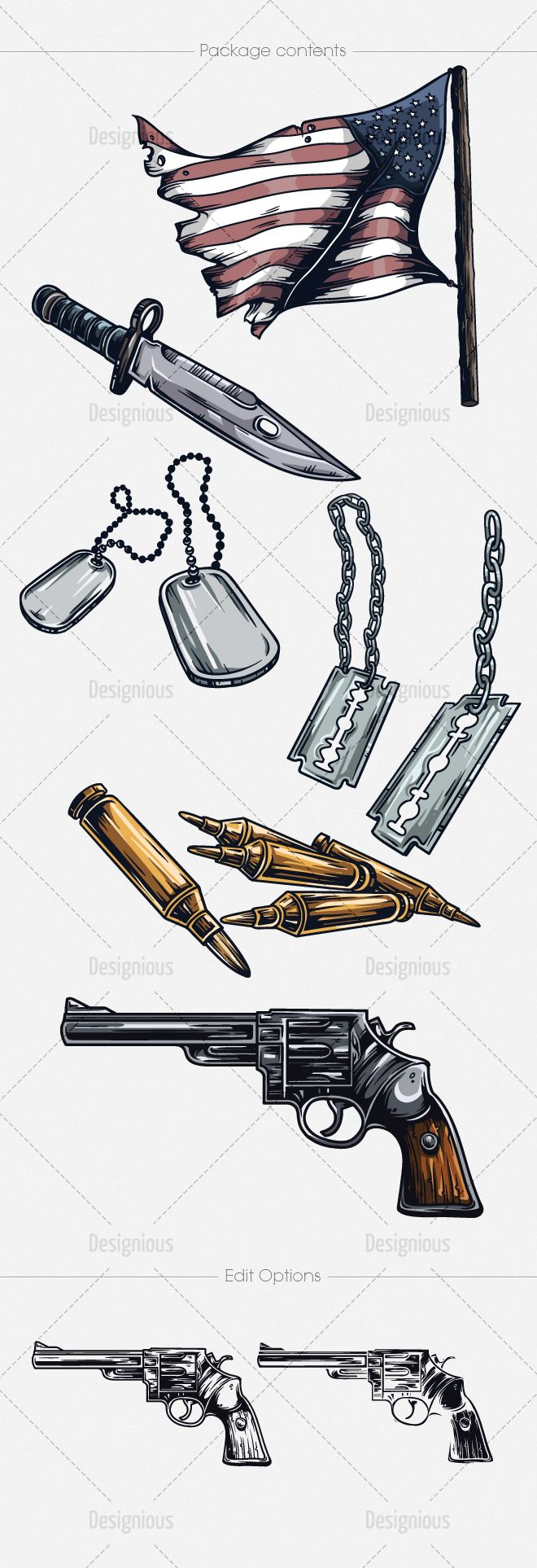 Army Vector Pack 1 | Designious
