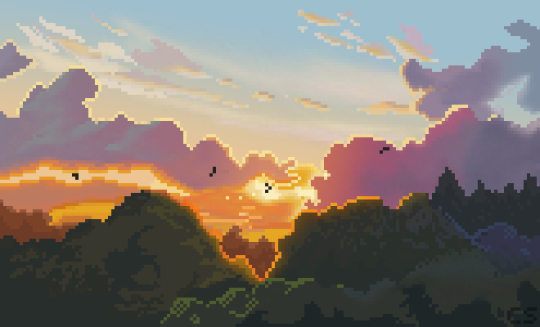 My Neighbour Totoro Pixelart Landscape Pixel Art Landscape Pixel Art Background Desktop Wallpaper Art