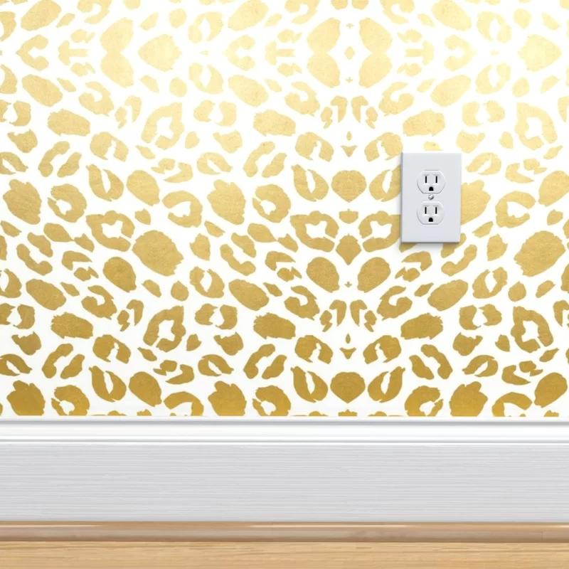 Mercer41 Oubre Leopard Print Removable Peel And Stick Wallpaper Roll Wayfair Wallpaper Perfect Wallpaper Textured Walls