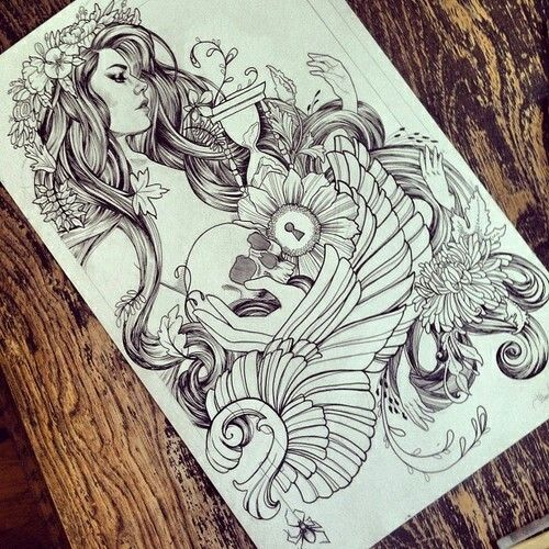 Mother Nature Tattoos: Picture Tattoos, Tattoo Drawings, Tattoos