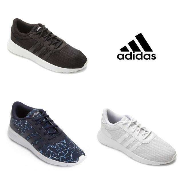 online store e96d6 58ba9 Tênis Adidas Lite Racer W Feminino – 3 Cores Disponíveis Por  R  134,
