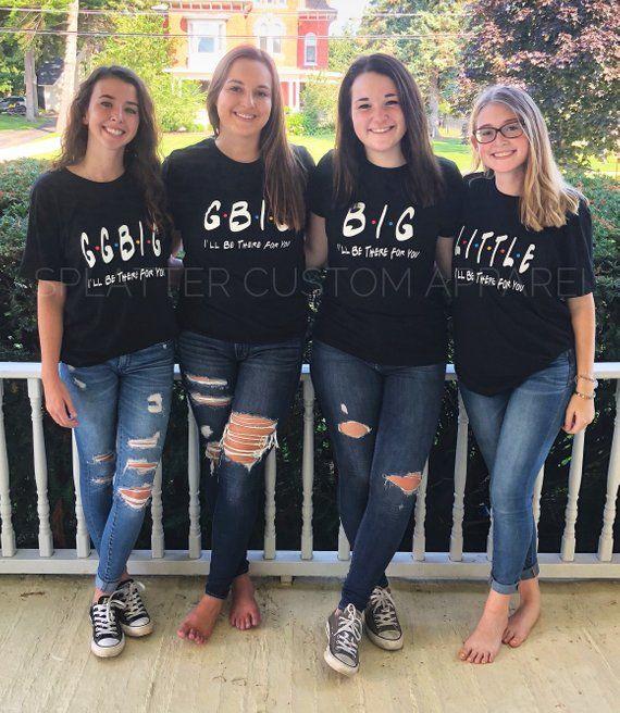 922c27fbf Sorority Shirts - Friends Themed - Big Little Reveal Shirts - Big/Little/GBig/GGBig  Matching Sororit