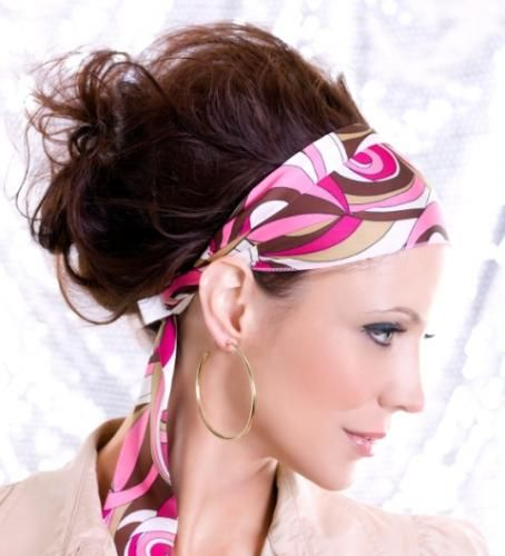 Gallery Of Ideas For Hair Updos Lovetoknow Scarf Hairstyles 70s Hair Headband Hairstyles