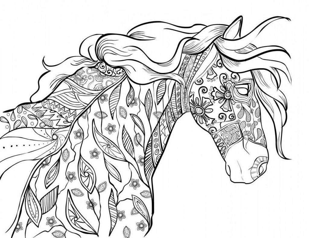 Horse Colouring Page Color Therapy App Is Fun And Relaxing Try This App For Free Get Color Horse Coloring Pages Horse Coloring Coloring Pictures Of Animals
