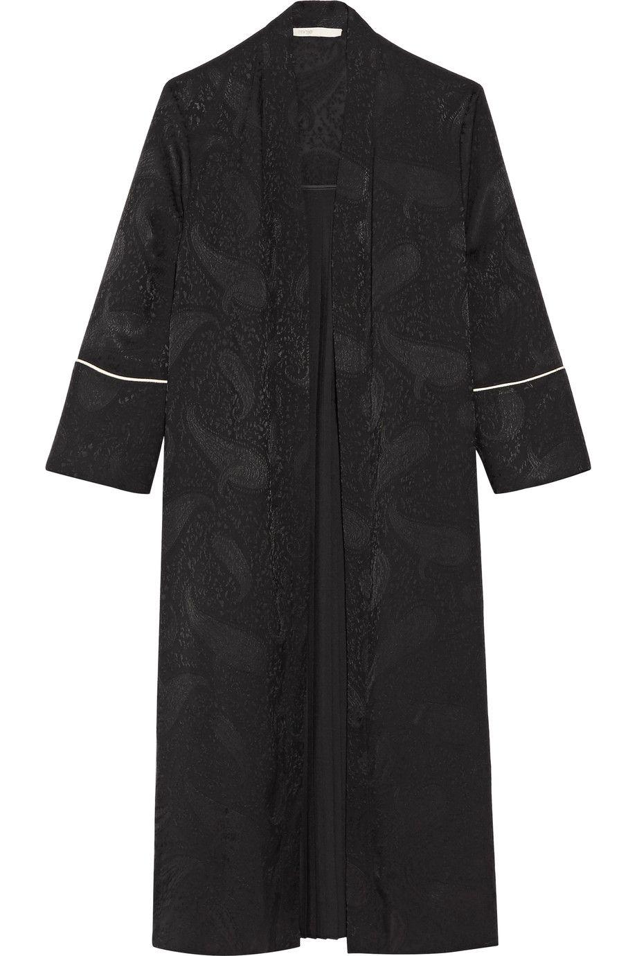 Maje | Pleated jacquard kimono | NET-A-PORTER.COM