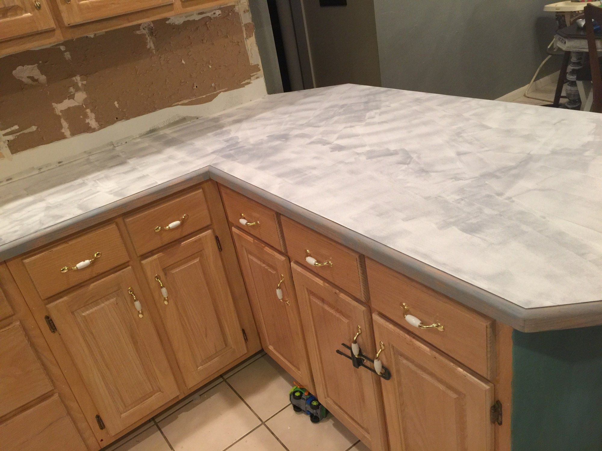 How To Resurface Kitchen Countertops Faux Marble Countertop