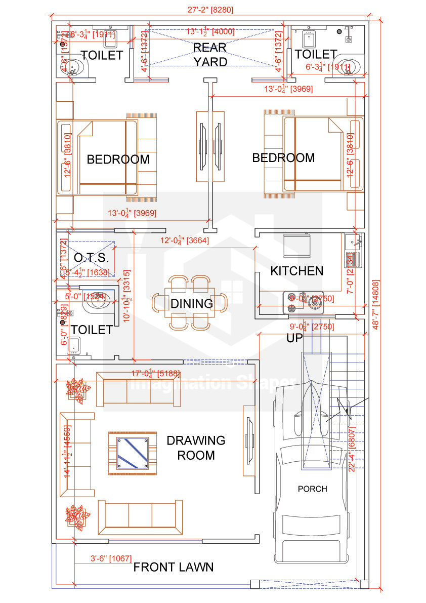25x50 House Plan Budget House Plans 2bhk House Plan House Map