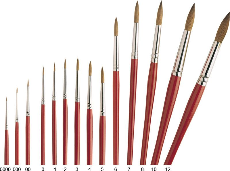 Details About Pro Arte Brushes Series 3 Pure Sable Round