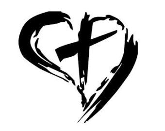 drawing of hearts and crosses cross and hearts drawings heart rh pinterest ca Heart with Cross Inside Cross with Heart around It