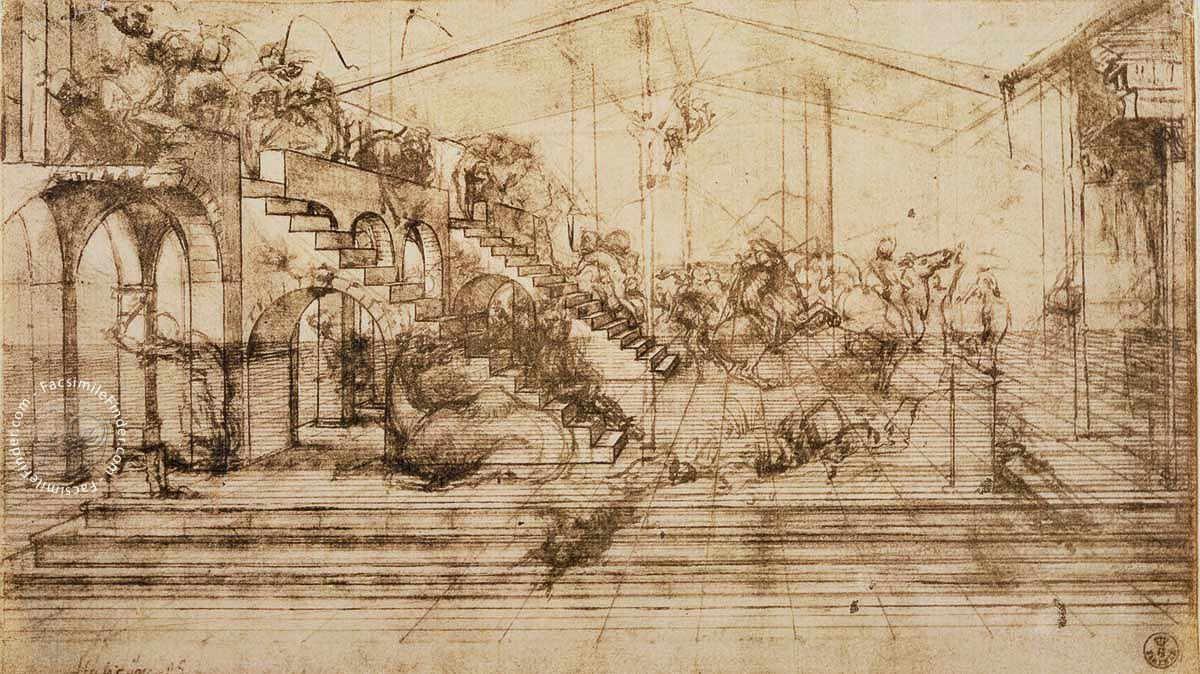 Drawings of Leonardo da Vinci and his circle - Galleria degli Uffizi in Florence Facsimile Edition