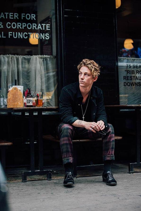 Street style à la Fashion Week homme printemps-été 2018 de Londres #men'sfashion