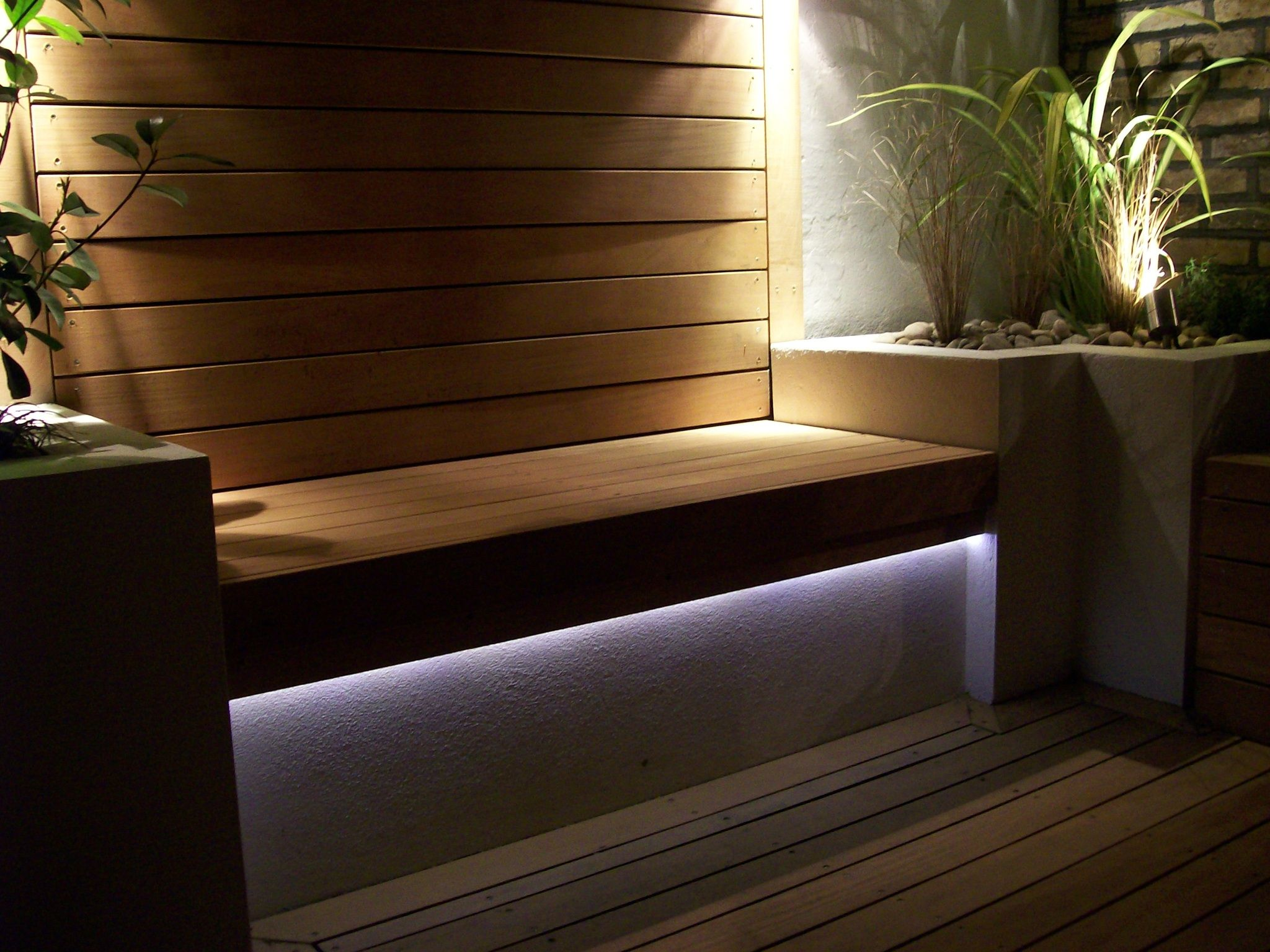 Under bench lighting garden lighting pinterest outdoor lighting linear lighting and lights Exterior linear led lighting