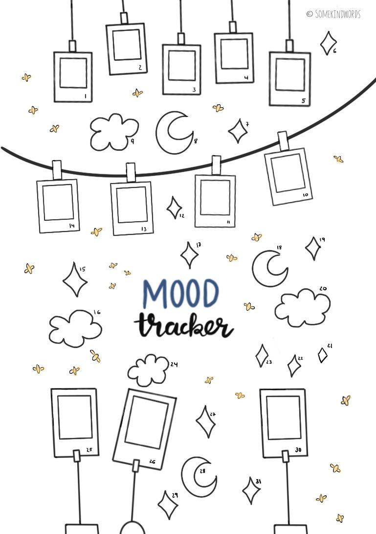 Mood Tracker Kostenlose Vorlage Zum Ausdrucken In 2020 Bullet Journal Diy Bullet Journal Mood Bullet Journal Tracker