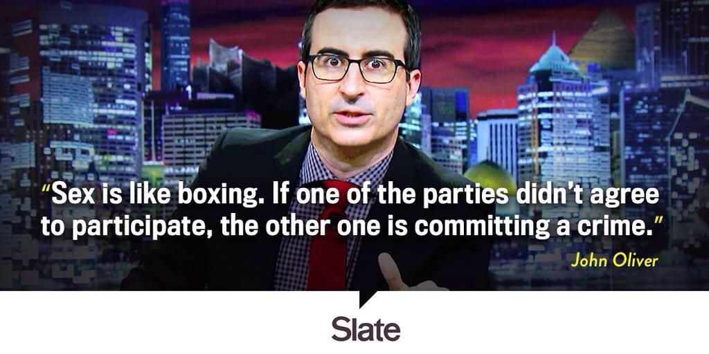 #quote Sex is like boxing. If one party didn't agree, the other is committing a crime.