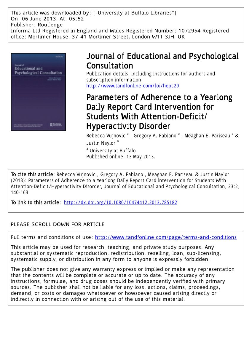 The awesome Pdf) Parameters Of Adherence To A Yearlong