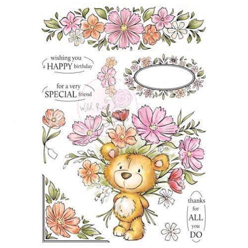 Wild Rose Studio A5 Stamp Milton Discontinued Card Making Kids Decorative Stamps Stamp Set