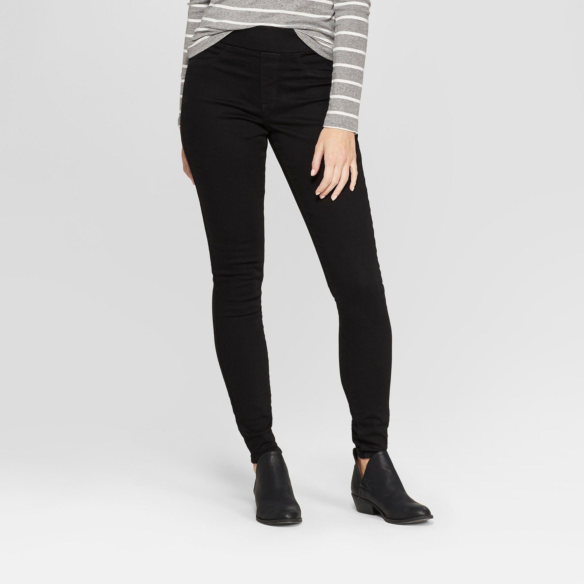 26106be315f8 Women's High-Rise Pull On Jeggings - Universal Thread Black 18 Short ...