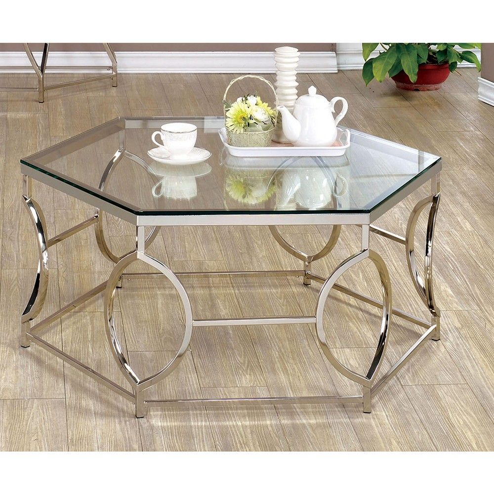 Elise Coffee Table Chrome Homes Inside Out Mesa De Centro De Vidro Table Ideias De Decoracao [ 1000 x 1000 Pixel ]