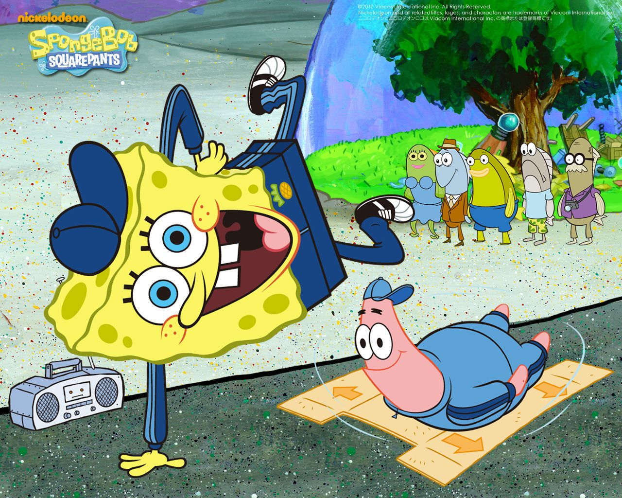 street dancing spongebob squarepants wallpaper bg wallpaper