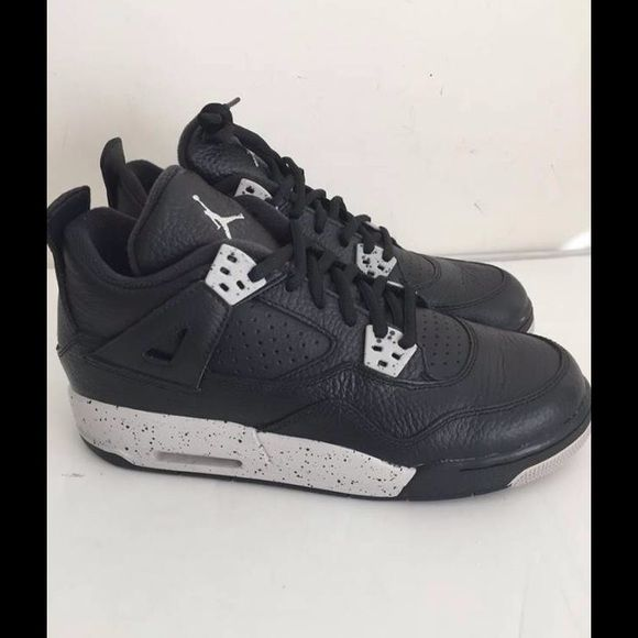 b44cd76fead9f4 Youth Air Jordan 4 Retro BG Black Tech Grey Oreo Brand new Youth Air Jordan  4 Retro BG Black Tech Grey Oreo size 6y with iriginal box 100% authentic  Nike ...