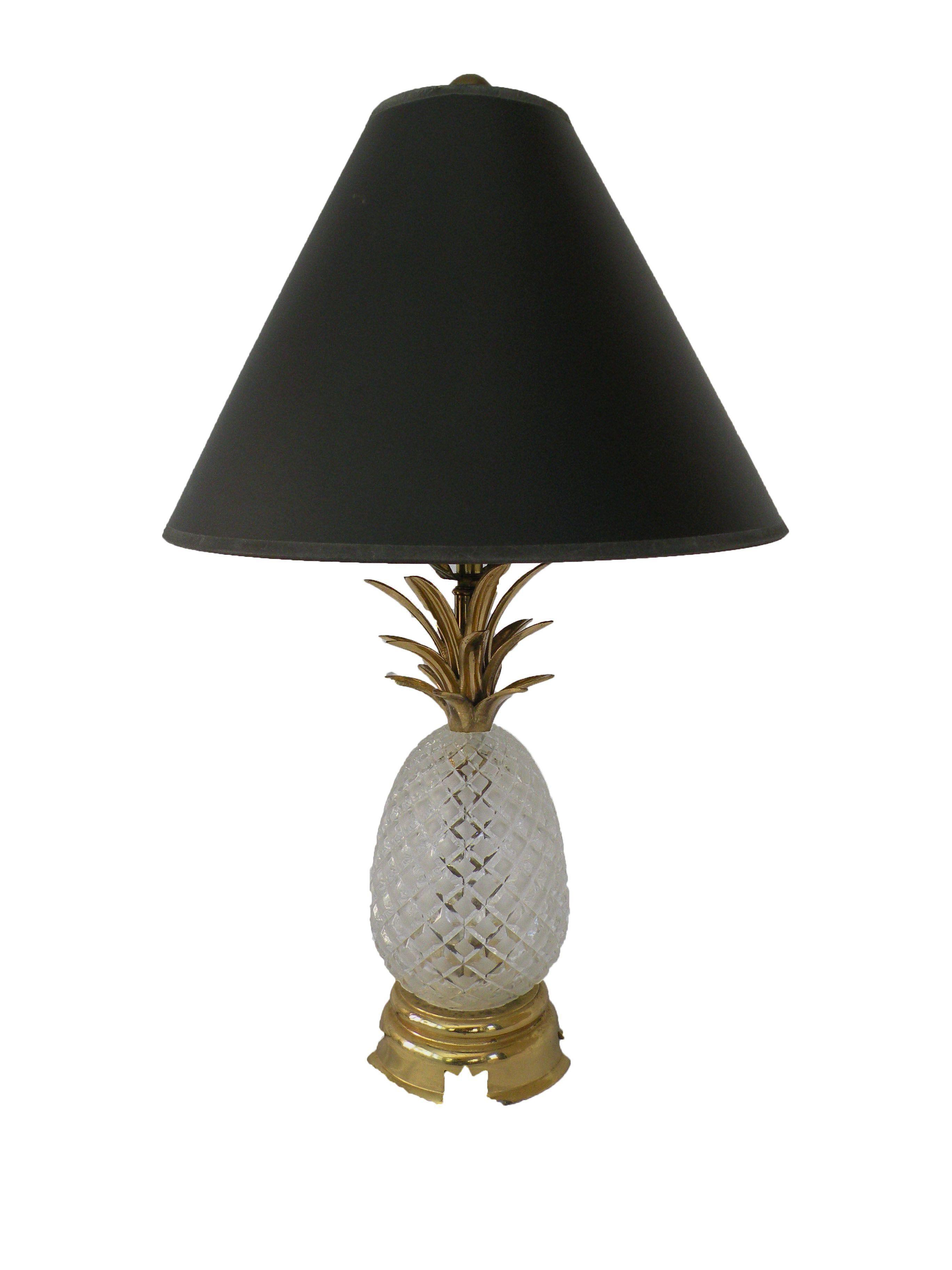 Vintage Crystal Pineapple Table Lamp On Chairish.com
