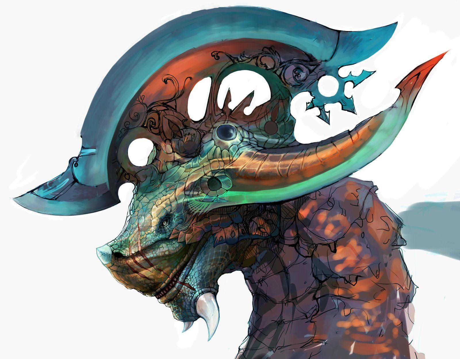 Barding Dragon, Rummy R on ArtStation at https://www.artstation.com/artwork/barding-dragon