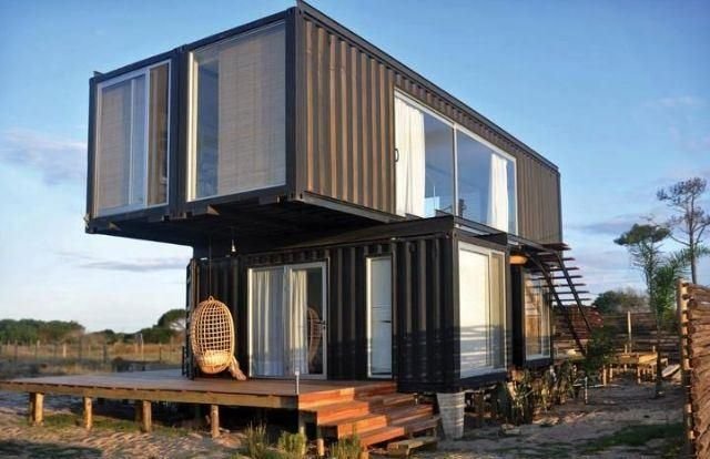 50 casas feitas com containers incrveis fotos shipping container house planscontainer - Tree House Plans Metal Crate