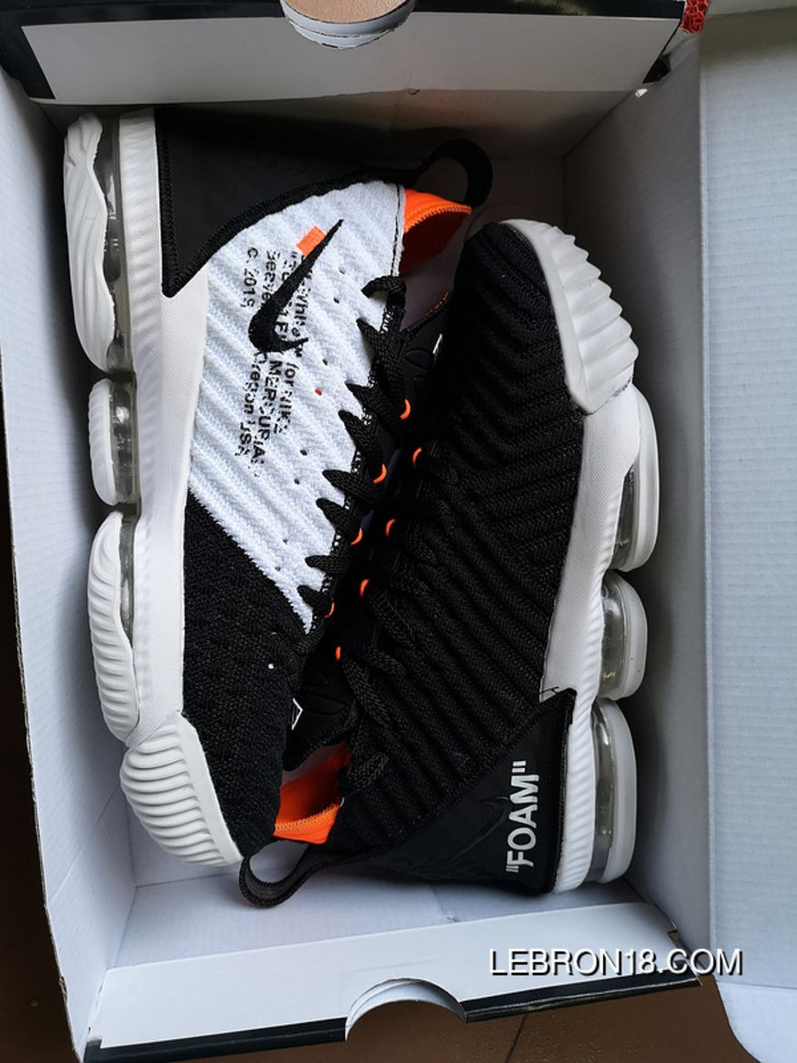 fca8b0da02d2 Nike LeBron 16 White Black Orange Women Men Discount in 2019