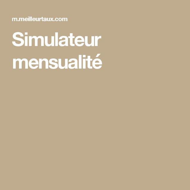 Simulateur mensualité