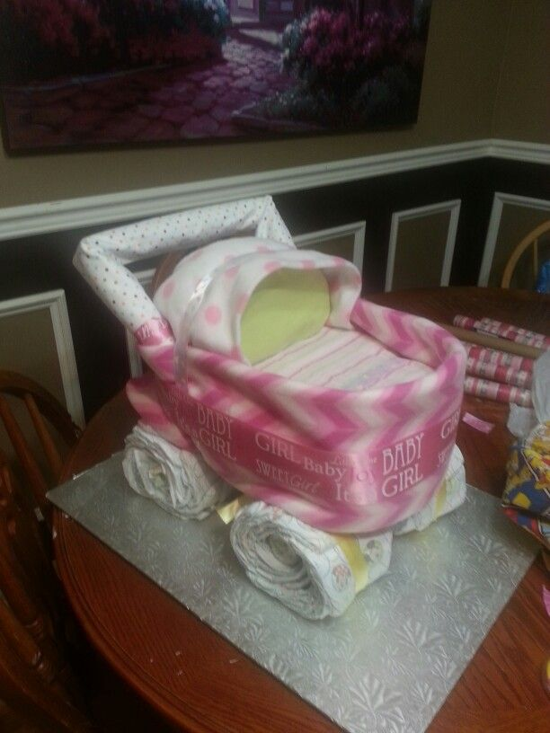 Diaper stroller for baby girl