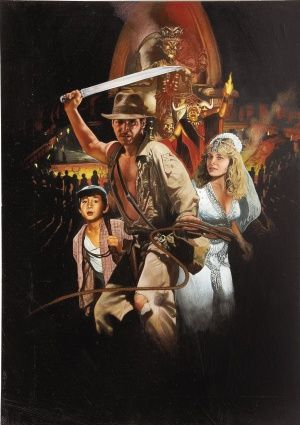 Indiana Jones and the Temple of Doom (1984) - Poster US - 2117*2117px