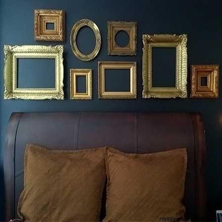 DIY Wall Decor-Empty picture frames as #wall #art | Fun ideas ...