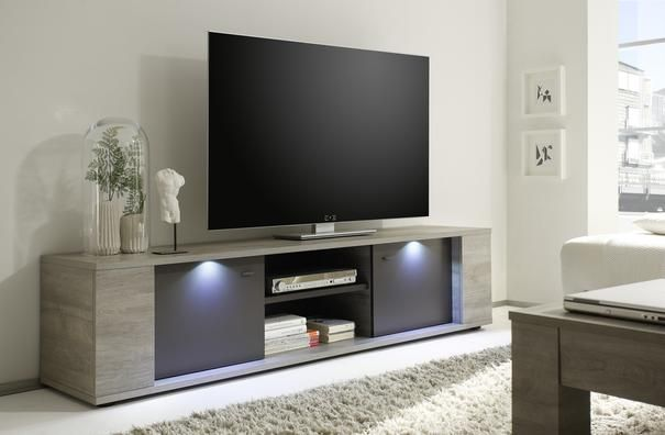Sidney Collection Large Tv Unit With Led Spotlights Tv Stand Decor Contemporary Tv Stands Modern Tv Stand