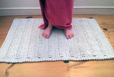 Thredhed No Splashing Out Crocheted Bath Mat Knit Rug Bath Mat Diy Crochet Mat