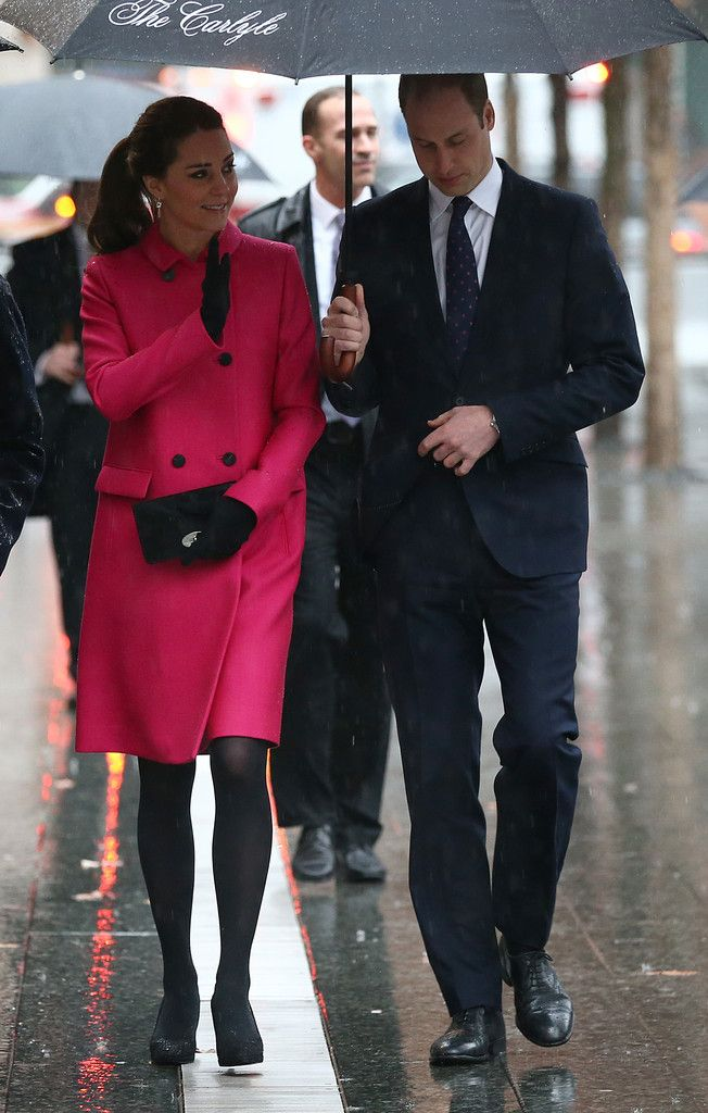 Prince William, Duke of Cambridge and his wife Catherine, Duchess of Cambridge, during a visit to the National September 11 Memorial Museum on December 9, 2014 in New York City.