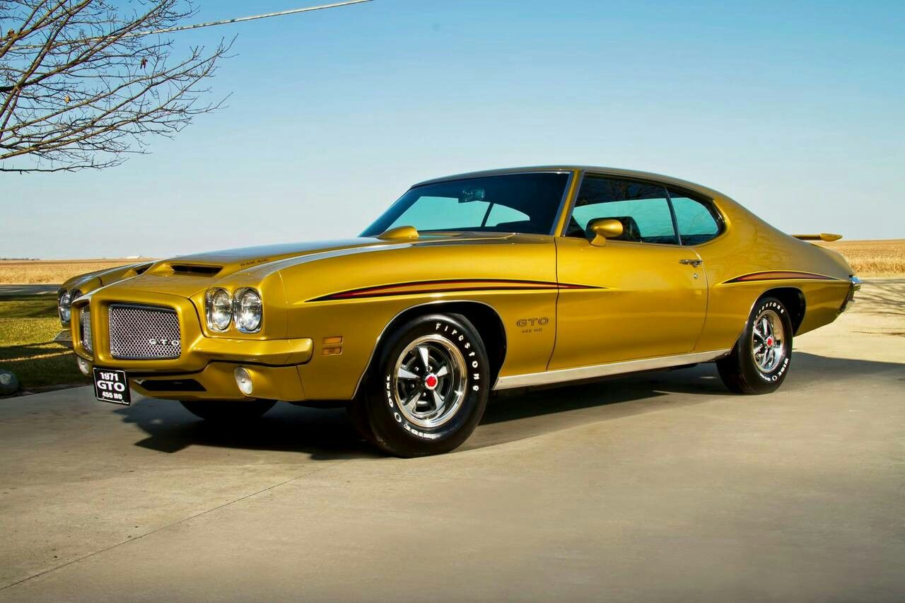 1971 Gto 455ho Pontiac Cars Classic Cars Muscle Gto Car