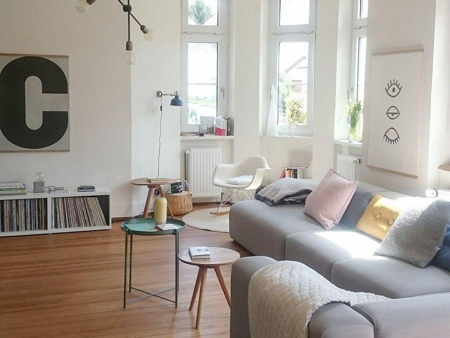 Verliebt In Den Skandinavisch Bunten Wohnstil Wohnzimmer