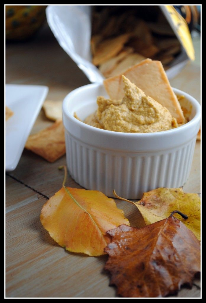 Spiced Pumpkin Hummus - Pretty good, but I'm not sure if I'll ever make it again. It was easy to make, but just not as good as normal hummus. I'd just as soon have normal hummus.
