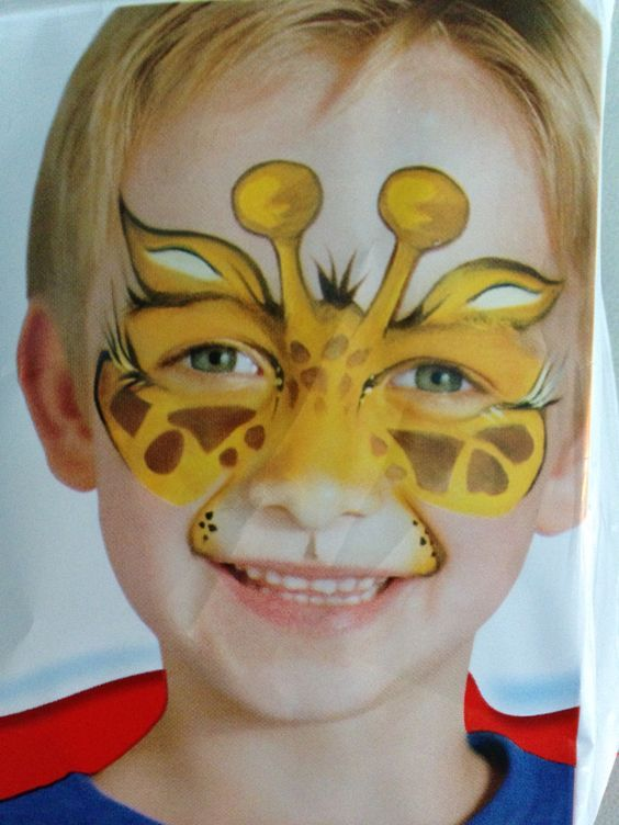 Giraffe Face Paint Kinderschminken Kinder Schminken Einfache Gesichtsmalerei