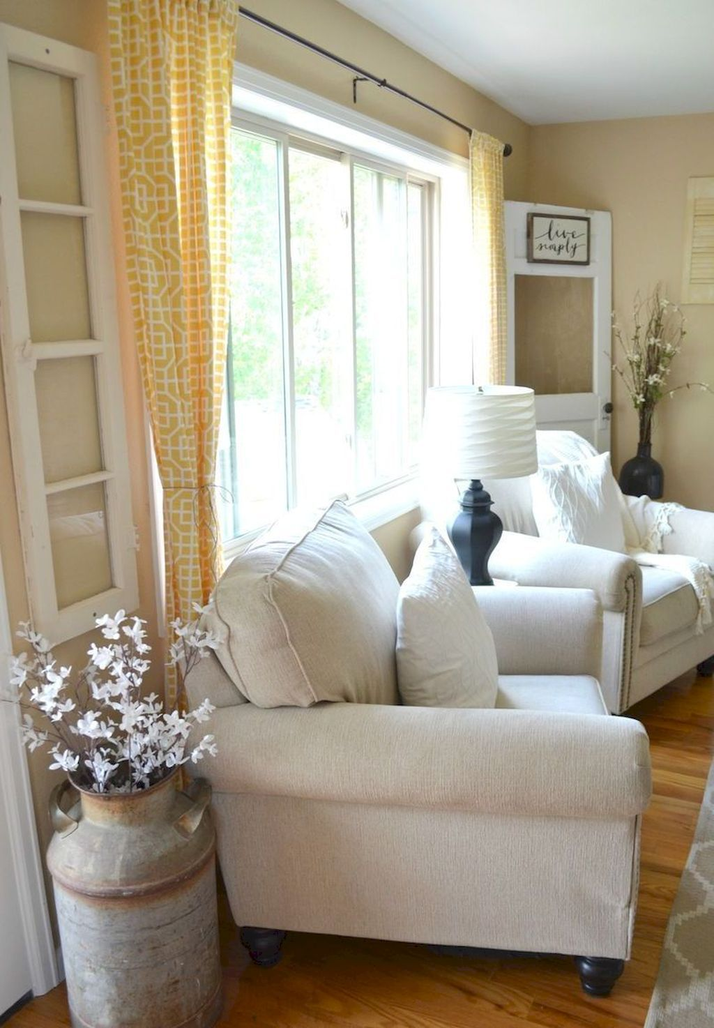 75 Best Farmhouse Living Room Makeover Decor Ideas | Living rooms ...