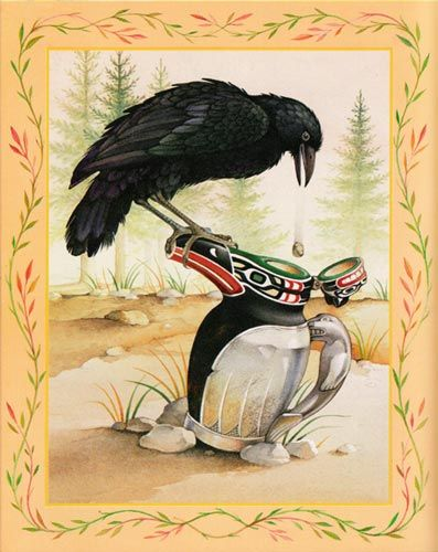 Aesop The Raven the Swan | all artwork created by delana bettoli © 2009