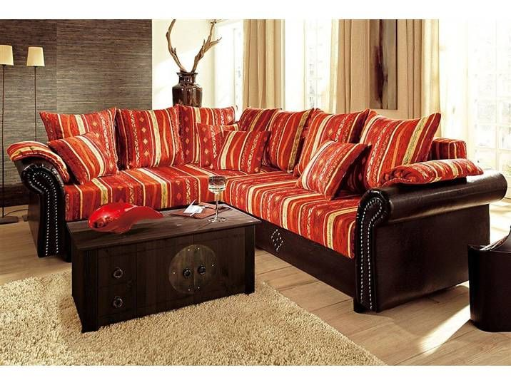 Home Affaire Ecksofa Norra Orange Mit Federkern Bettfunktion Recht Home Couch Furniture