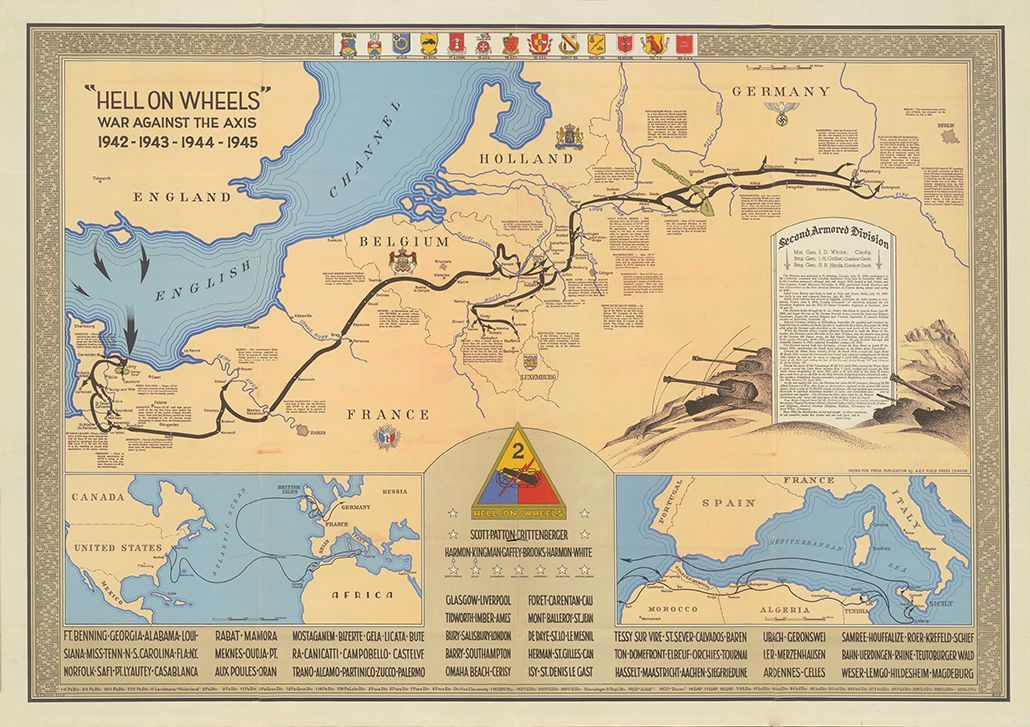 2nd Armored Division Campaign Map 1945 Version | Products