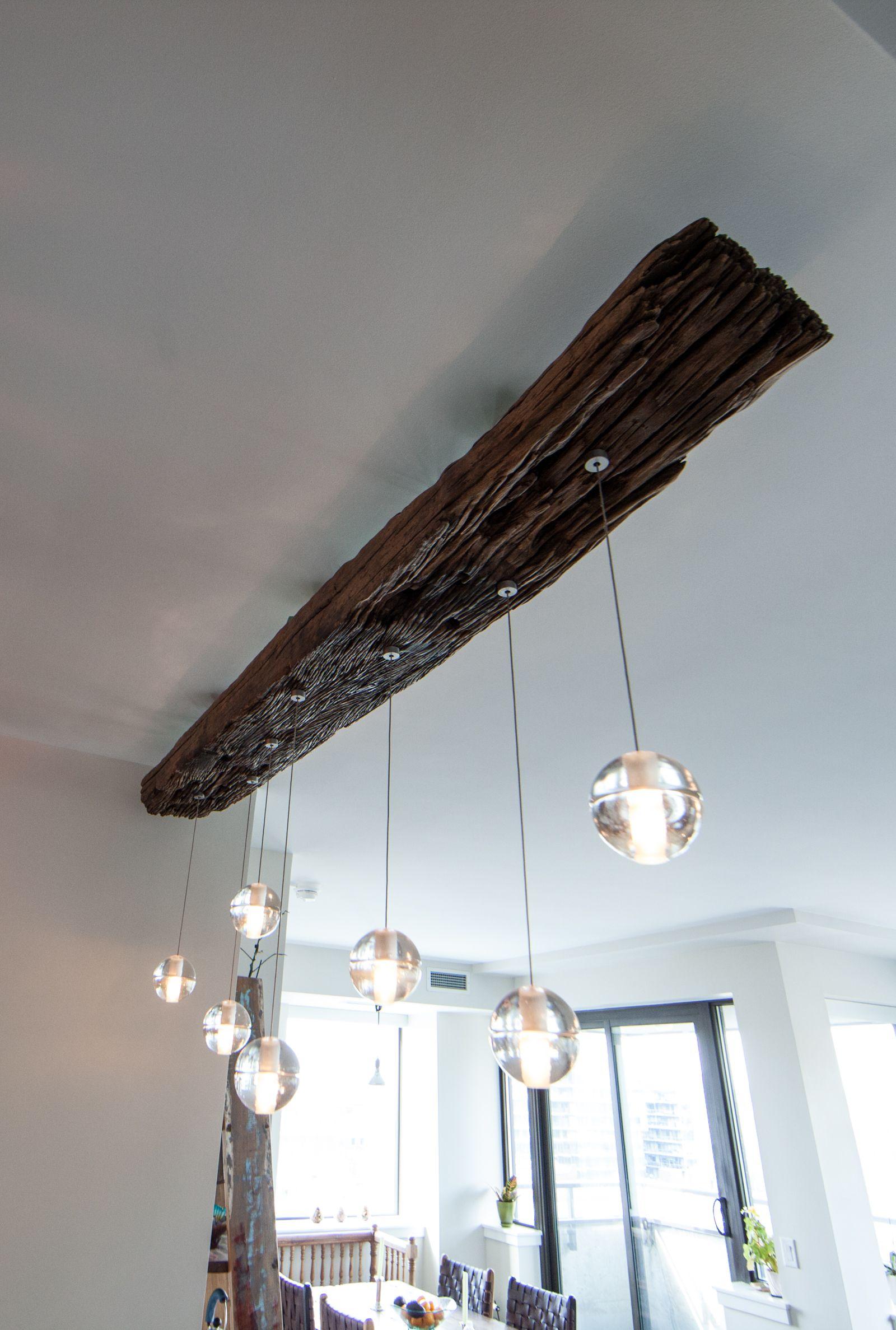 Rail Sleeper Bocci Pendant Light   Zenporium   Wood light fixture ...